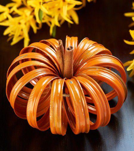 Diy Mason Jar Lid Pumpkins I