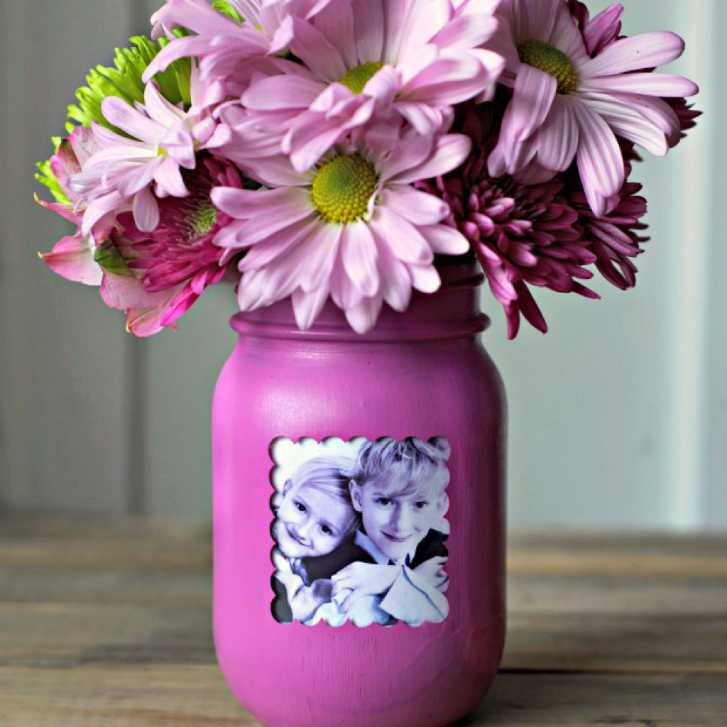 Mason Jar Flower Pot