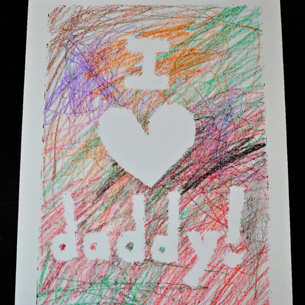 Crayon Taped Card