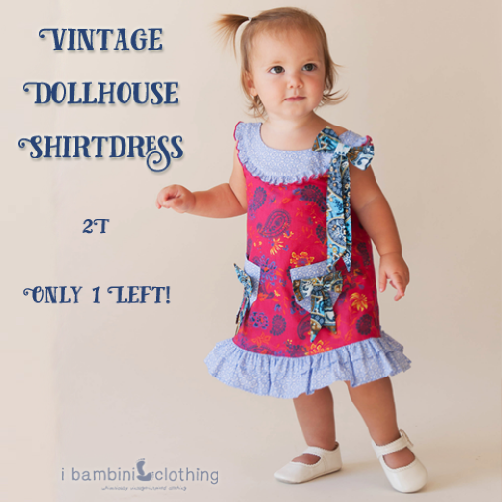 Vintage Dollhouse Shirtdress_summer sale