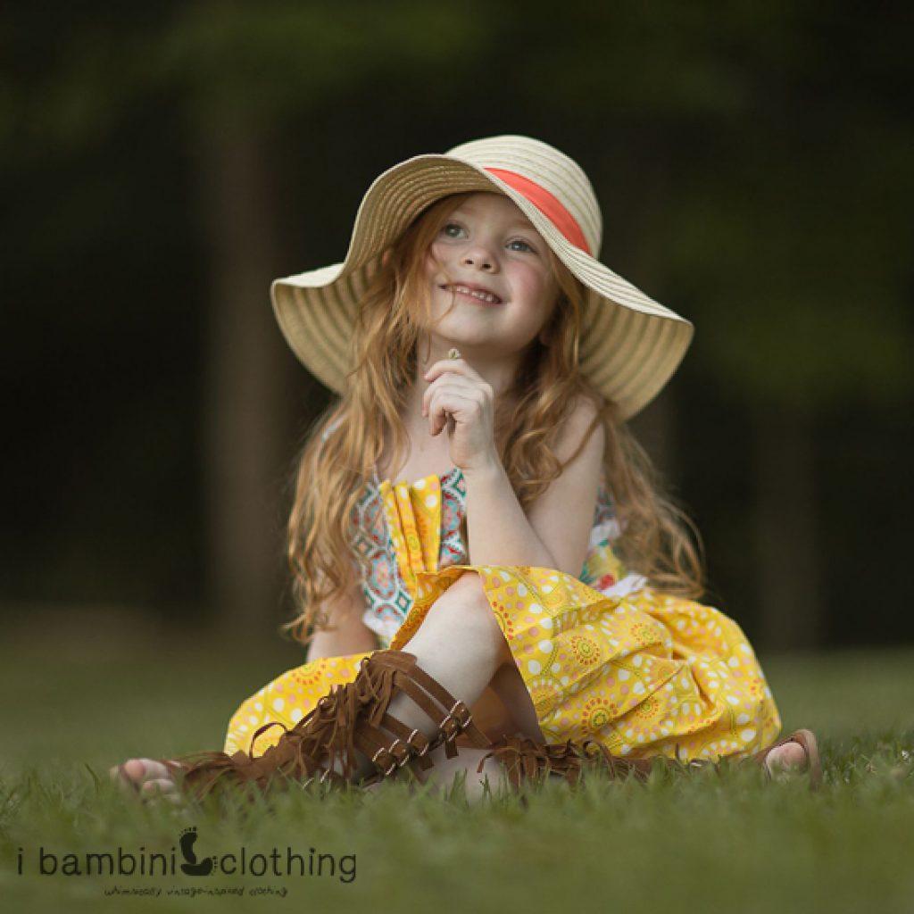 Lil Miss Sunshine Dress in Yellow Sugar