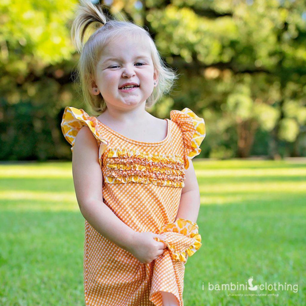 Lil' Cindy Lou Dress in RB Orange