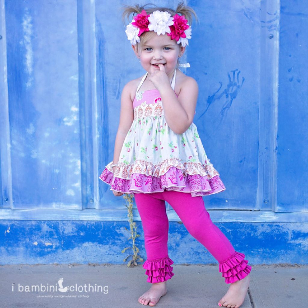 Bo Peep Leggings in Hot Pink